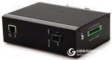 千兆1光1电工业级光纤收发器可拓展POE宽温DIN导轨式安装
