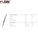Rubis扁頭鑷子2A-SA 瑞士RUBIS晶元鑷子