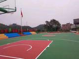 地拓体育供应塑胶篮球地板_室外篮球塑胶地板_8mm硅PU篮球地胶