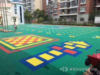 幼兒園PP聚丙烯懸浮式拼裝運動地板 籃球場PP聚丙烯透水性好懸浮拼裝式塑膠地板