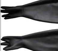 丁基合成橡膠手套,丁基尼龍襯里防氚手套,丁基干箱手套