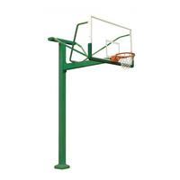 HKLJ-1010A 固定式单臂篮球架 高强度安全玻璃篮板
