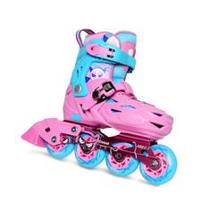 【美洲狮COUGAR】MZS303溜冰鞋儿童平花鞋轮滑鞋可调成人男女直排旱冰鞋 欧盟品质 粉