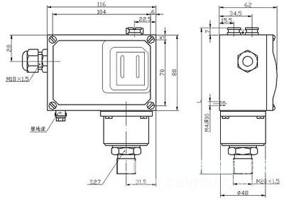 压力控制器/双触点压力控制器 型号:HAD-TLD-PC