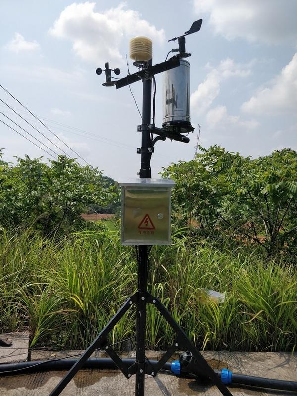 赣州脐橙园智能水肥灌溉系统安装完毕