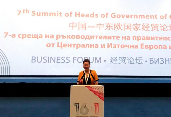 微语言创始人朱春娜应邀出席中东欧国家经贸论坛