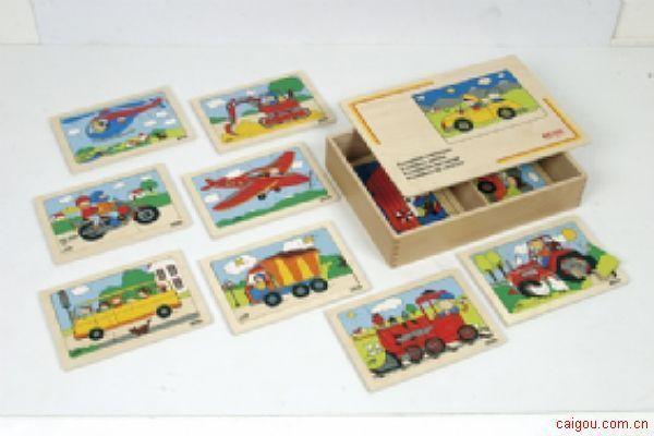 交通工具拼图盒