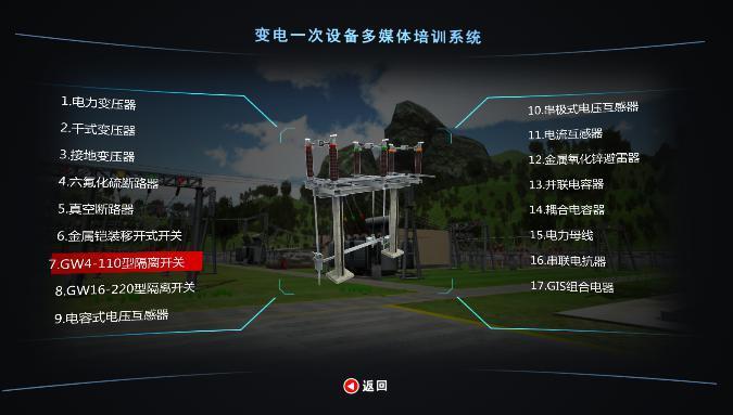 电力系统各专业多媒体三维虚拟交互教学仿真培训系统