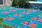 吉林大學采用懸浮拼裝地板建室外籃排球場