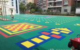 幼儿园PP聚丙烯悬浮式拼装运动地板 篮球场PP聚丙烯透水性好悬浮拼装式塑胶地板