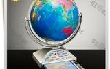 天朗紫微供應地理學習教學專用32cm學生平面政區地球儀擺件