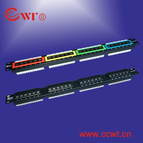 24口配線架超五類配線架網絡配線架cat5e patch panel